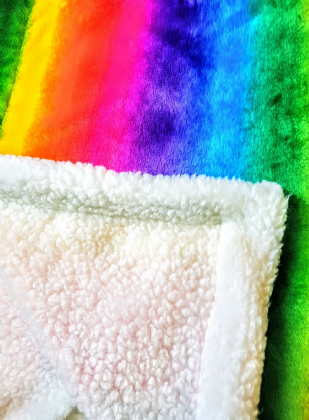 Cuddle fleece supper soft RAINBOW Dog / Cat blanket